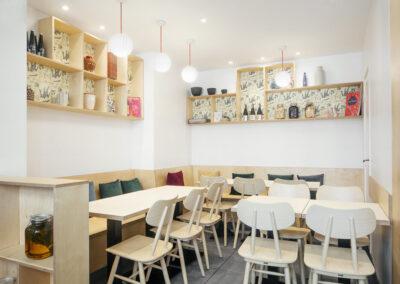 intérieur restaurant Berri ambiance reposante intimiste cosy décoration voyage culinaire