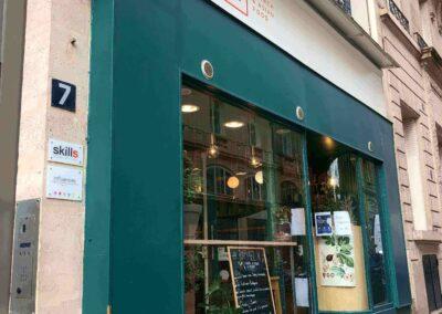 Vitrine restaurant franco asiatique